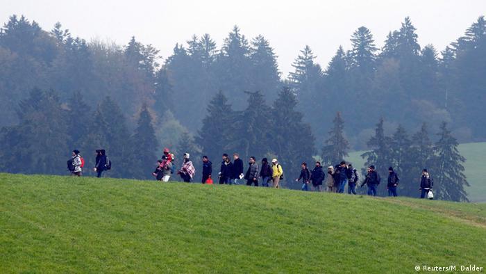 Österreichisch-deutsche Grenze Flüchtlinge Copyright: Reuters/M. Dalder