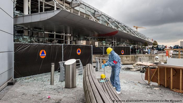 Brussels Zaventem Airportafter attacks
