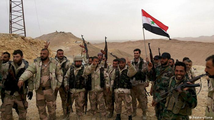 Syrian troops in Palmyra
