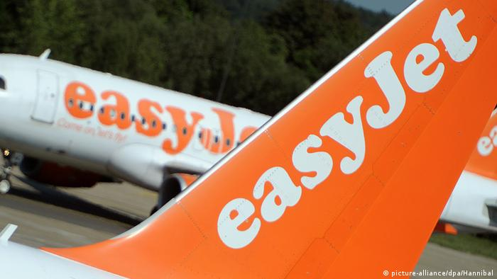 Easyjet Logo (picture-alliance/dpa/Hannibal)
