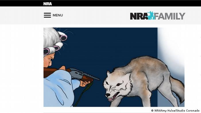 NRA Webseite Screenshot NRW Family National Rifle Association USA
