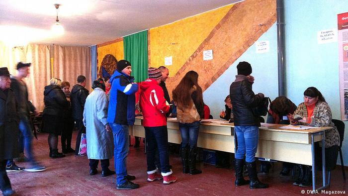 Голосування на одній із дільниць у Кривому Розі, 27 лютого