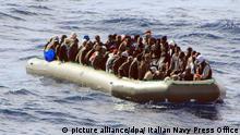 Italien Flüchtlinge Rettung Mittelmeer