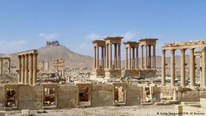 Syrien Palmyra UNESCO Weltkulturerbe - Rückeroberung durch syrische Armee