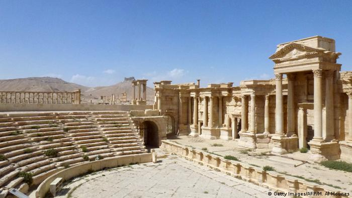 Das antike Theater im syrischen Palmyra. (Foto: Getty Images/AFP/M. Al)