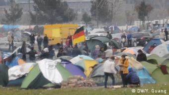 Idomeni migrant camp in Greece