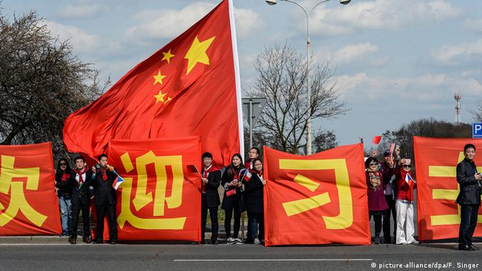Tschechien Xi Jinping, Präsident China, Ankunft in Prag