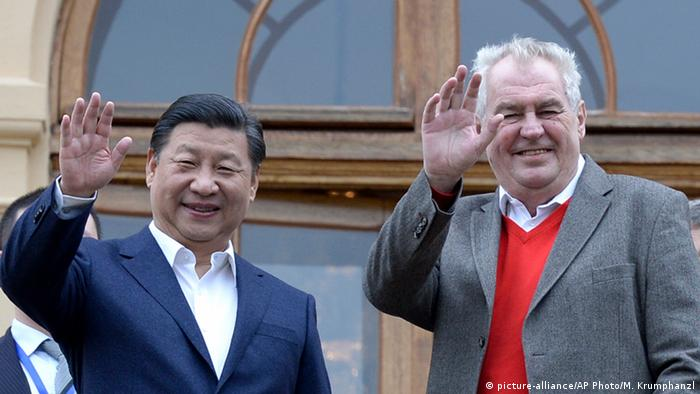 China's president, Xi Jinping and Czech counterpart Milos Zeman meeting in March.
