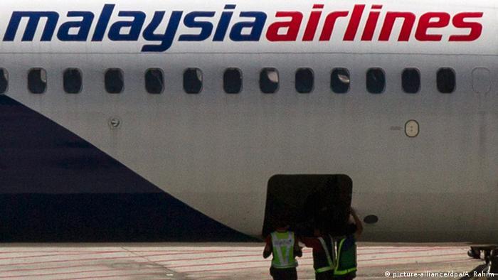 Flugzeug von Malaysian Airlines am Flughafen in Kuala Lumpur