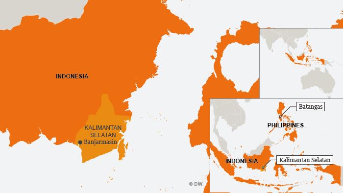Karte map Indonesia Kalimantan ENG