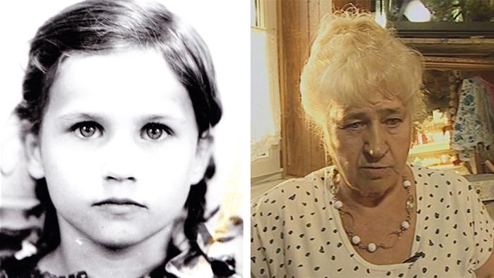 Zyta Suś quando criança e hoje