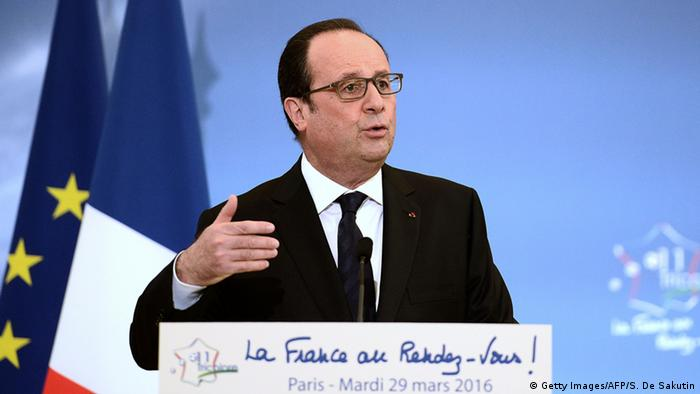 Frankreich Präsident Hollande Rede am INSEP
