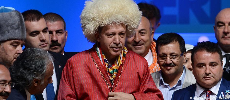 Imagem de Erdogan que aparece no vídeo da emissora NDR