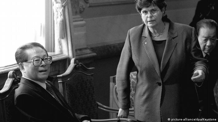 Schweiz 1999 Chinesischer Präsident Jiang Zemin & Präsidentin Ruth Dreifuss