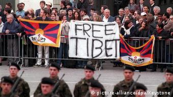 Schweiz Proteste von Tibetern - Besuch Präsident Jiang Zemin