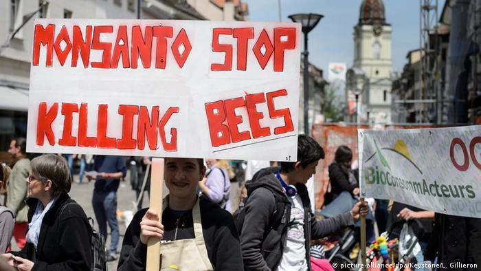 Schweiz Demonstrationen gegen Monsanto 2015