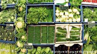 Neue Bio-Supermarktkette Vierlinden der Rewe Gemüse