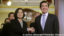 Taiwan Tsai Ing-wen und Ma Ying-jeou in Taipeh