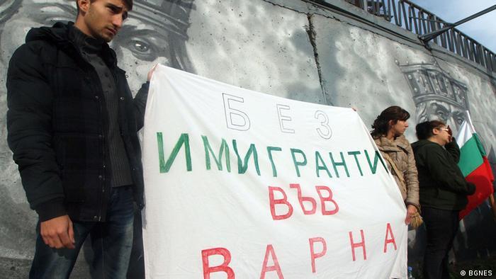 Bulgarien Protest gegen Immigranten in Varna