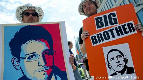 Demonstranten gegen den NSA-Skandal (Foto: dpa)