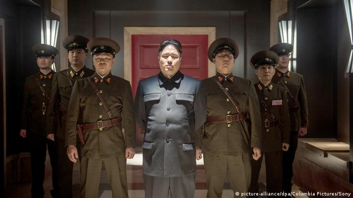 Still from film The Interview with actor depicting Kim Jong-un, Copyright: picture-alliance / Columbia Pictures / Sony