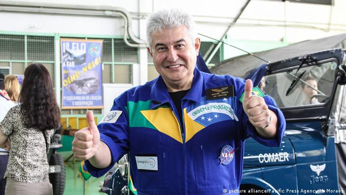 Brasilien Astronaut Marcos Pontes in Sao Paulo (picture alliance/Pacific Press Agency/M. Moraes)