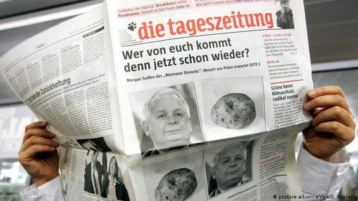 Tageszeitung taz Satire zu Treffen des Weimarer Dreiecks