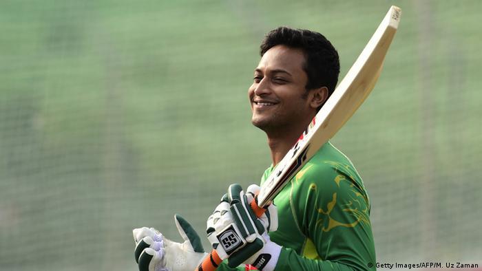Bangladesch Cricket-Spieler Shakib Al Hasan (Getty Images/AFP/M. Uz Zaman)