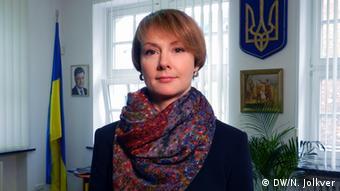 Елена Зеркаль в посольстве Украины в Берлине, 2016 год