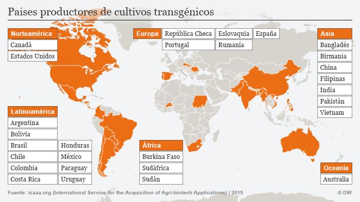 Infografik Gentechnik Landwirtschaft weltweit 2014 Spanisch