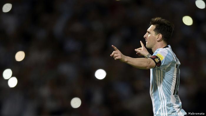 FIFA Weltmeisterschaft 2018 Qualifizierung Bolivien - Argentinien Lionel Messi