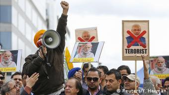 Protest against Modi in Belgium
