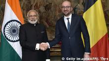 Belgien Brüssel Charles Michel & Narendra Modi