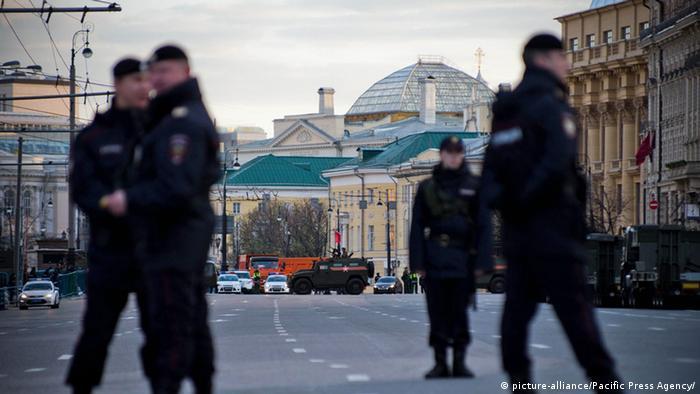 Полиция в центре Москвы