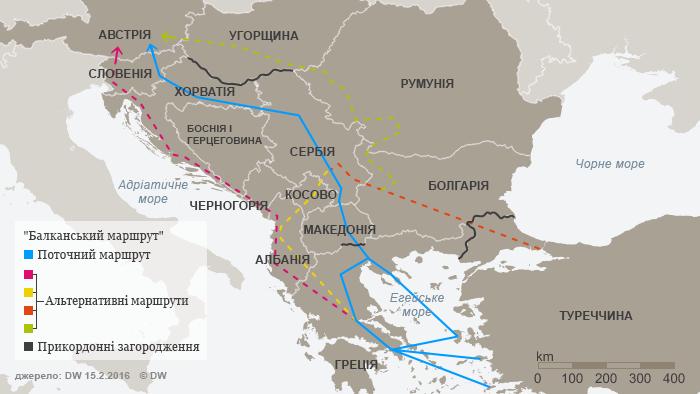 Альтернативні шляхи для біженців