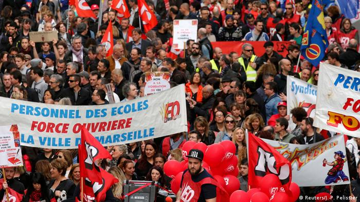 Unions protest in Marseille