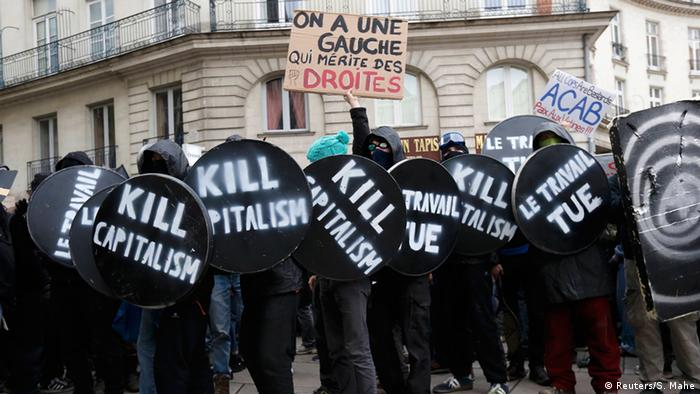 Students protest in Nantes
