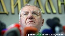 31.03.2016 +++ epa05237514 Vojislav Seselj talks during a press conference in Belgrade, Serbia, 31 March 2016 The UN war crimes tribunal for former Yugoslavia (ICTY) on 31 March 2016 acquitted Seselj of nine counts of war crimes and crimes against humanity allagedly committed between 1991 and 1993 during the Balkan wars. EPA/KOCA SULEJMANOVIC +++(c) dpa - Bildfunk+++ © Simon Wudu