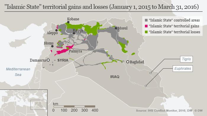 Infografik IS Gebiete 31. März 2016 Englisch