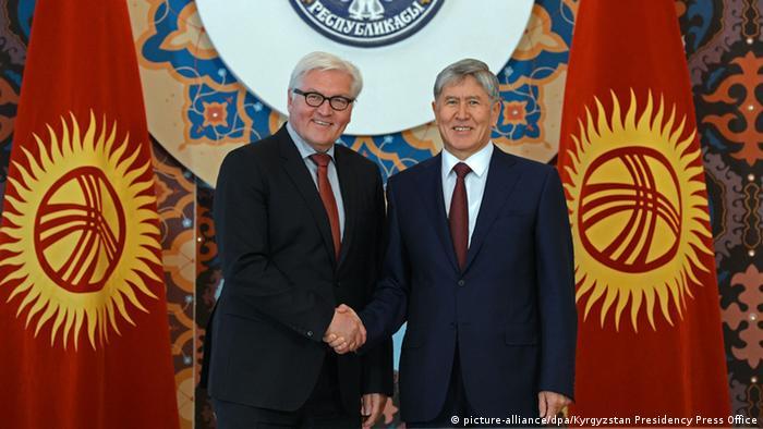 Франк-Вальтер Штайнмайер и президент Киргизии Алмазбек Атамбаев