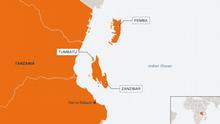 Karte Tanzania, Tumbatu, Zanzibar Englisch