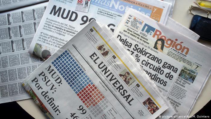 Jornais venezuelanos