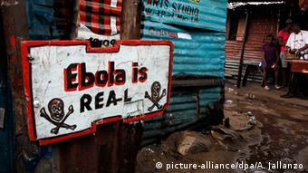 Liberia Schild Ebola ist real