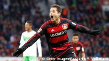 Fußball Bundesliga 28. Spieltag Bayer Leverkusen gegen VfL Wolfsburg