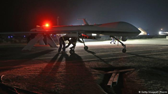 A US Predator drone on a runway