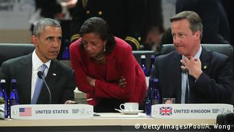 USA Nuklear-Gipfel Barack Obama, Susan Rice und David Cameron in Washington
