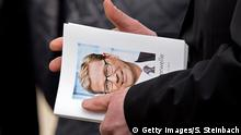 02.04.2016 COLOGNE, NORTH RHINE-WESTPHALIA - APRIL 02: A funeral song book is seen when mourners arrive for the memorial commemoration for late German politician Guido Westerwelle at the Sankt Aposteln Kirche church on April 2, 2016 in Cologne, Germany. Westerwelle, a leading member of the German Free Democrats (FDP) and former German foreign minister, died on March 18 of leukemia. (Photo by Sascha Steinbach/Getty Images) Copyright: Getty Images/S. Steinbach