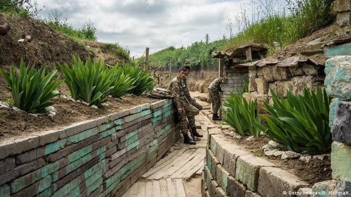 Сили Нагірного Карабаху на кордоні з Азербайджаном (архівне фото)
