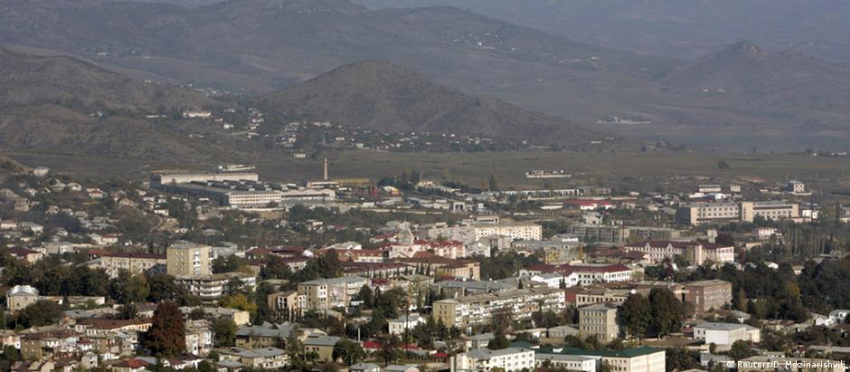 Stepanakert, a principal cidade da autoproclamada República do Nagorno-Karabakh
