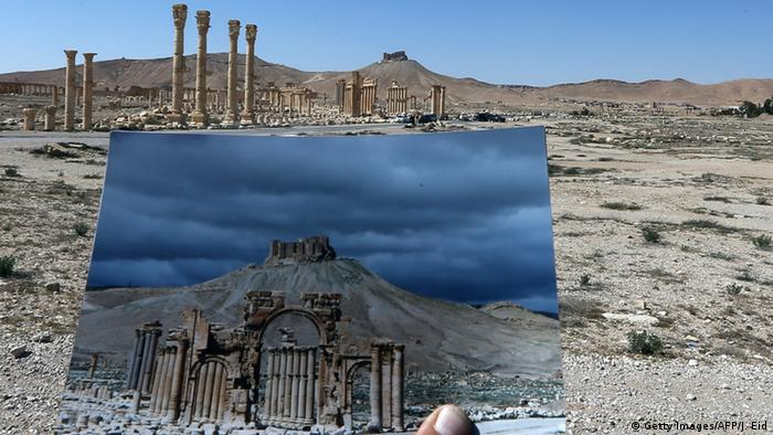 Palmyra before and after IS, Copyright: Getty Images/AFP/J. Eid